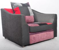 20TH CENTURY LOW EASY LOUNGE CHAIR / ARMCHAIR BEING REUPHOLSTERED