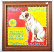 MELOX MARVELS OIL ON BOARD ENAMEL IMPRESSION ADVERTISING SIGN