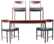 A. H. MACINTOSH & CO. RETRO 1970'S EXTENDING DINING TABLE AND CHAIRS