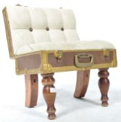 UNUSUAL BUTTON BACK CHAIR IN THE FORM A TRAVEL SUITCASE