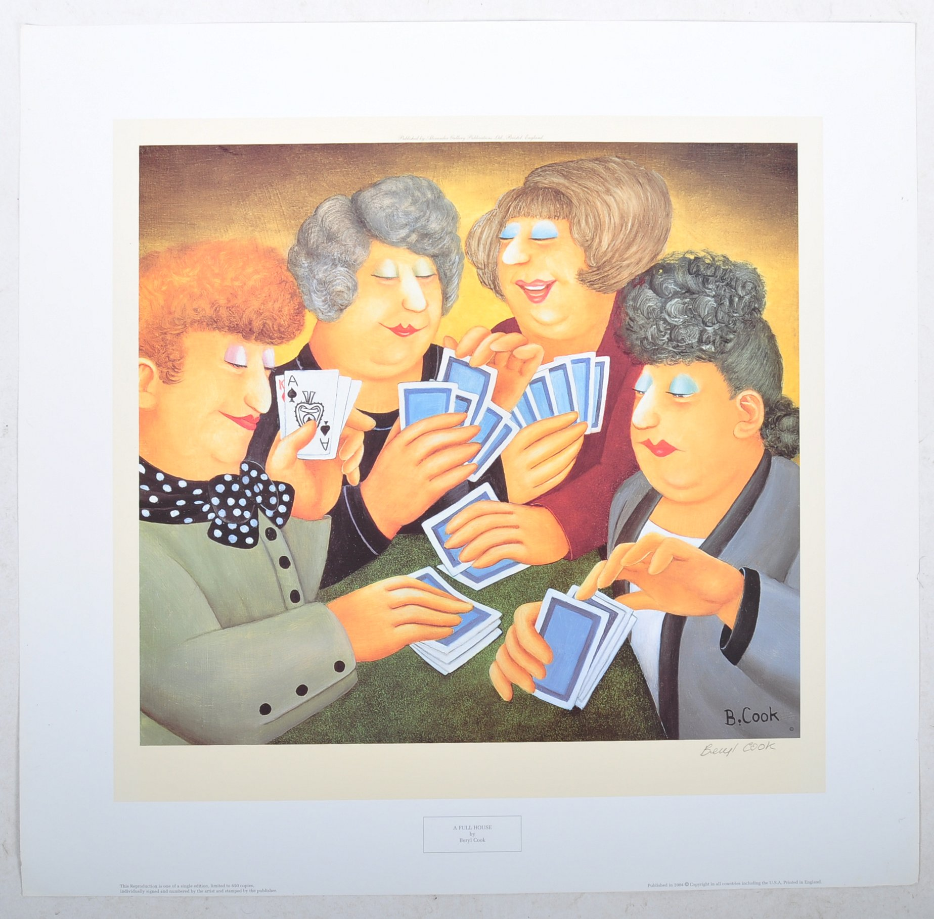 Lot 47 - BERYL COOK SIGNED PRINT A FULL HOUSE FROM THE ALEXANDER GALLERY