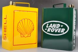 TWO VINTAGE STYLE MOTOR OIL / PETROL ADVERTISING CANS