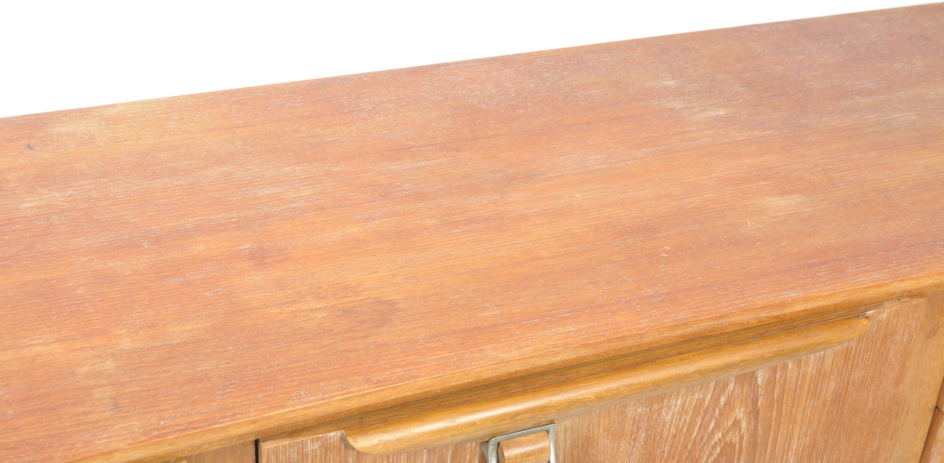 BEAUTILITY RETRO TEAK SIDEBOARD HAVING STYLIZED BELT BUCKLE HANDLES - Image 3 of 10