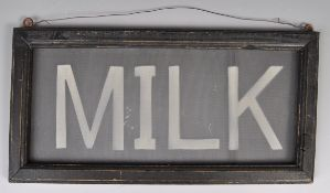 EARLY 20TH CENTURY POINT OF SALE SHOP ADVERTISING SIGN FOR MILK