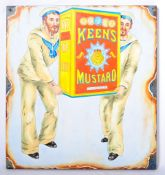 KEEN'S MUSTARD OIL ON BOARD IMPRESSION OF A ENAMEL ADVERTISING SIGN