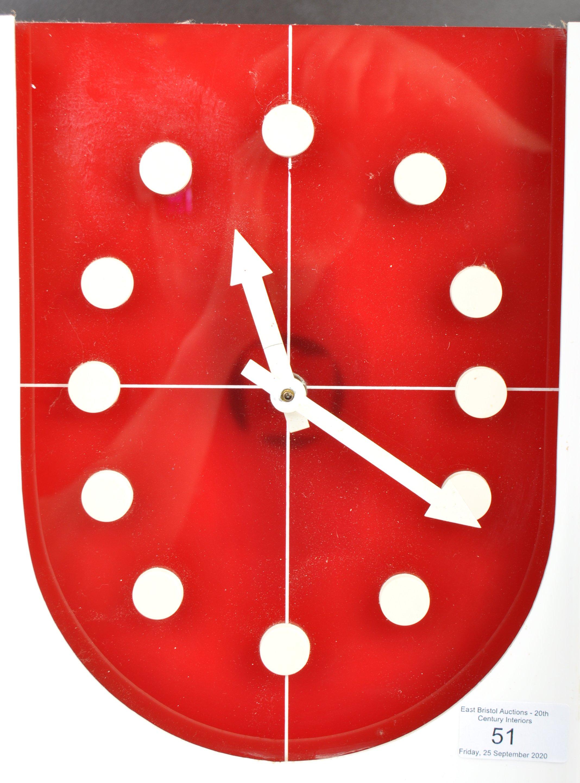 PRESTA JAPANESE RETRO 1970'S ACRYLIC WALL HANGING CLOCK - Image 2 of 4