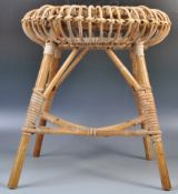 BELIEVED FRANCO ALBINI MID CENTURY WICKER / CANE STOOL
