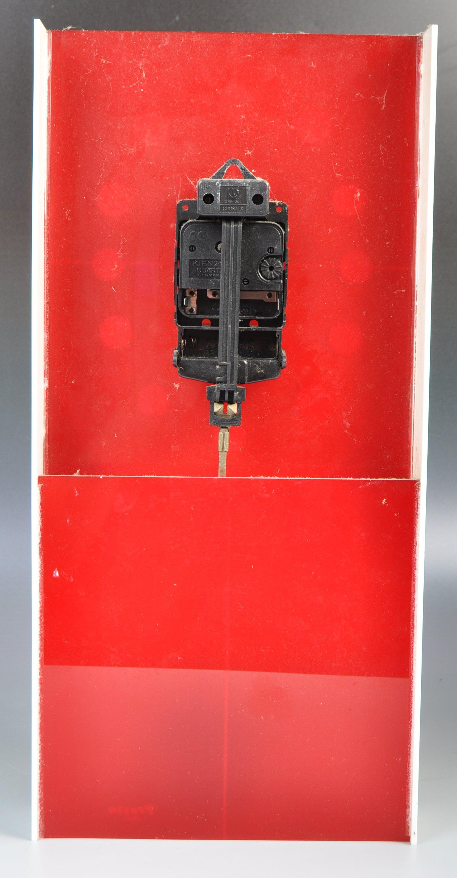 PRESTA JAPANESE RETRO 1970'S ACRYLIC WALL HANGING CLOCK - Image 4 of 4