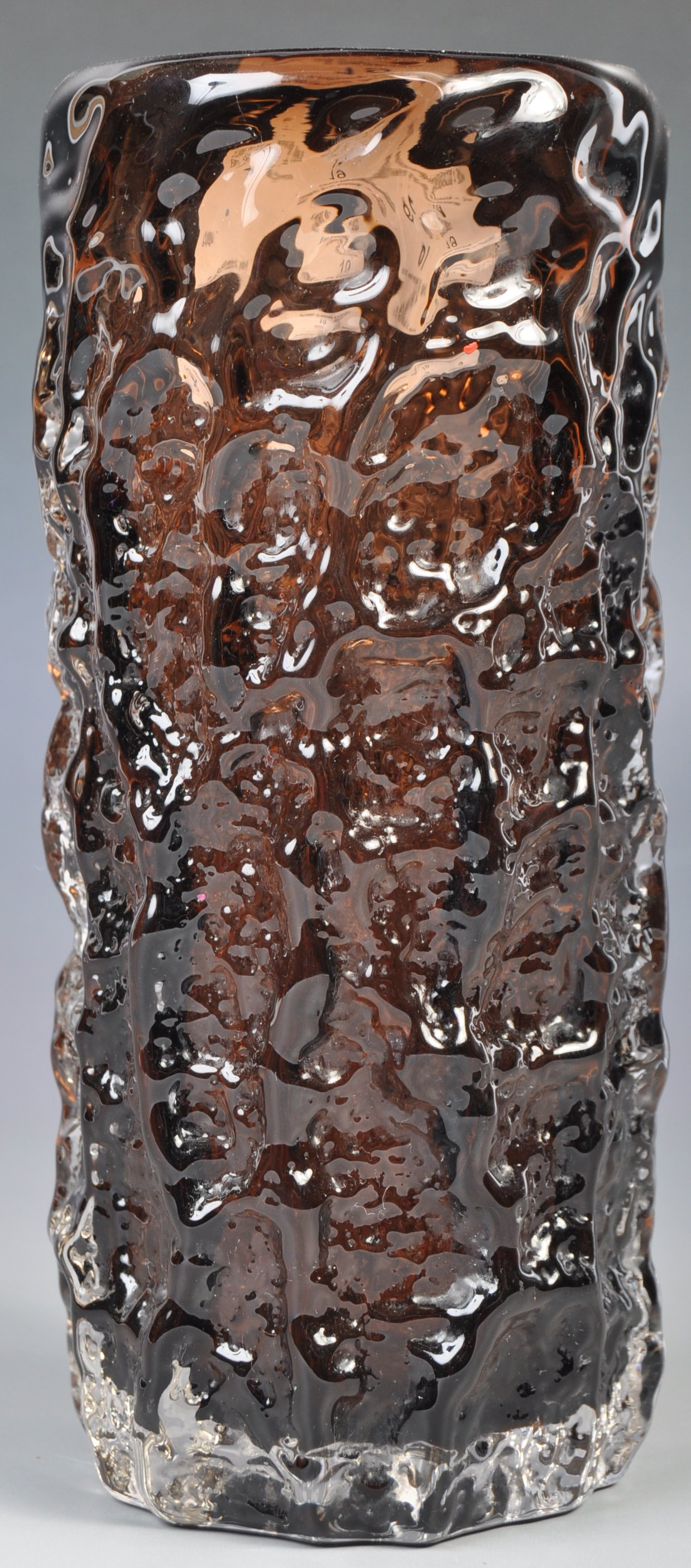 Lot 19 - WHITEFRIARS TEXTURED BARK EFFECT VASE MODEL 9690