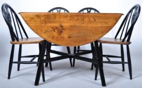LUCIAN ERCOLANI DINING TABLE SUITE IN BEECH AND ELM