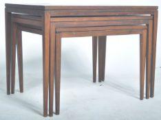 ROSENTHAL DOMUS AFROMOSIA TEAK WOOD NEST OF THREE TABLES
