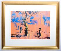 ROLF HARRIS LARGE PAINTING PRINT ENTITLED BUSH SHA