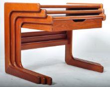 SALIN NYBORG 20TH CENTURY TEAK WOOD NEST OF TABLES