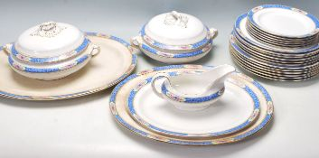 BOOTHS BLUE AND WHITE PART STAFFORDSHIRE DINNER SERVICE