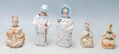GROUP OF EDWARDIAN GERMAN NODDING PORCELAIN FIGURINES