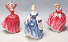 COLLECTION OF 3 FINE BONE CHINA PORCELAIN FIGURINES