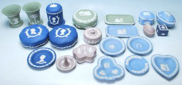 A COLLECTION OF WEDGWOOD JASPERWARE CAMEO WARE