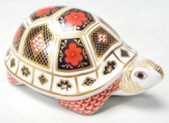 ROYAL CROWN DERBY TORTOISE PAPERWEIGHT