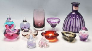 RETRO 20TH CENTURY STUDIO ART PURPLE GLASS