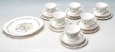 A COLCLOUGH BONE CHINA D676 PART TEA SET / COFFEE SERVICE