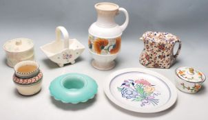 ASSORTED COLLECTION OF EARLY 20TH CENTURY CERAMIC ITEMS