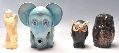 STUDIO POTTERY FIGURINES AND TOBACCO JARS