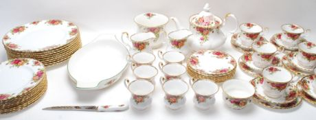 LARGE ROYAL ALBERT OLD COUNTRY ROSES TEA SET - DINING SERVICE