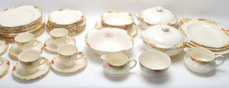 1930'S ART DECO ALFRED MEAKIN DINNER AND TEA SERVICE