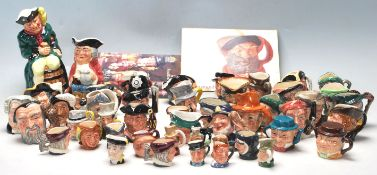 A LARGE COLLECTION OF ROYAL DOULTON MINATURE TOBY JUBS IN MANY CHARACTERS.