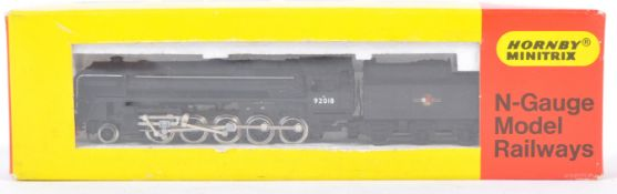 HORNBY MINITRIX N GAUGE N207 92018 CLASS 9F 2-10-0 LOCO IN BR BLACK