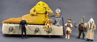 VINTAGE STAR WARS KENNER JABBA THE HUTT PLAYSET W/FIGURES