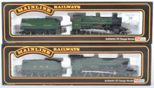 TWO PALITOY MAINLINE 00 GAUGE TRAIN SET LOCOMOTIVES