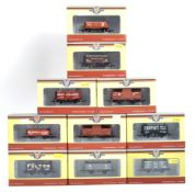 RAKE OF BOXED OXFORD RAIL 00 GAUGE WAGONS & ROLLING STOCK