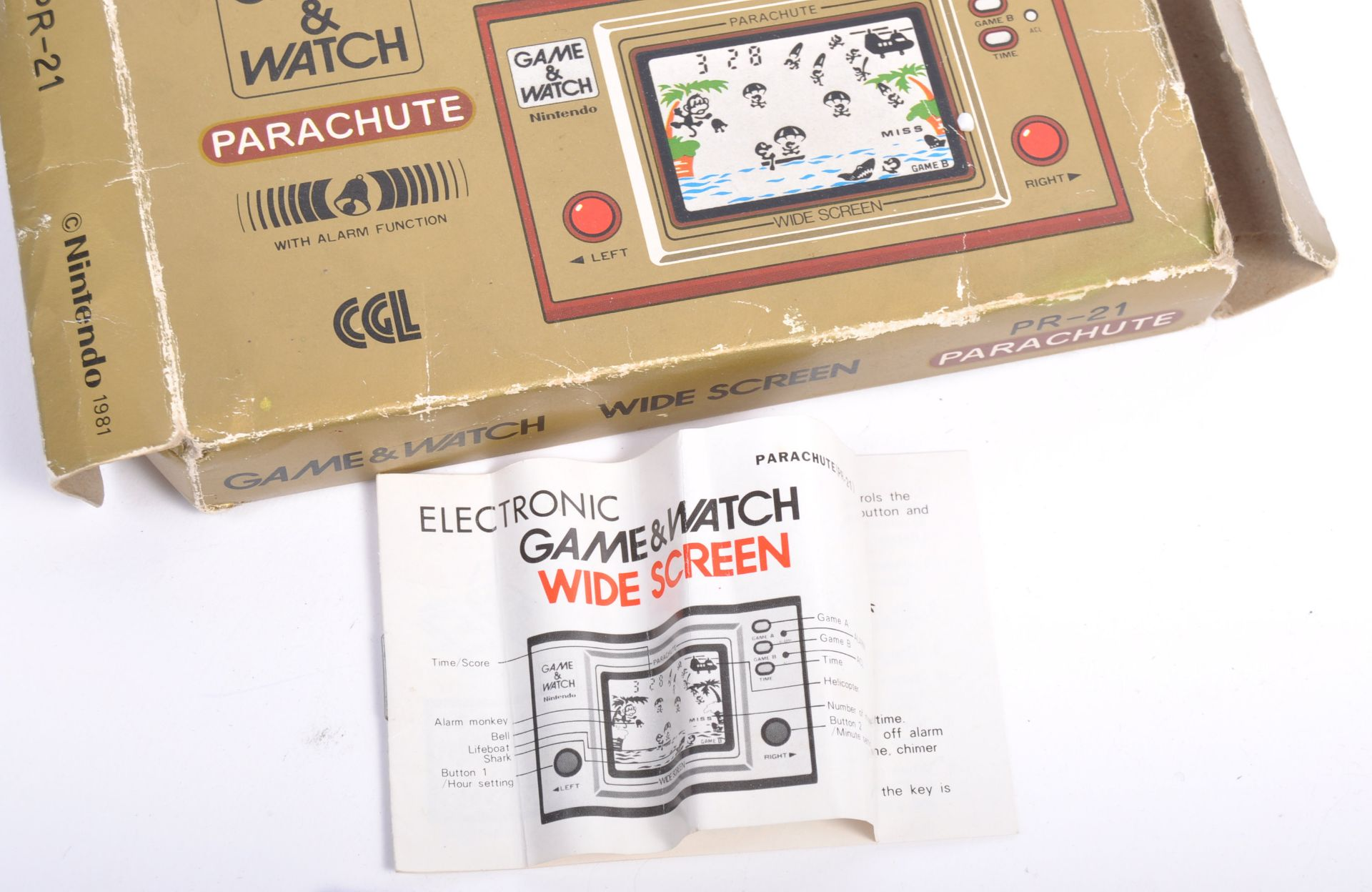 Los 3 - VINTAGE NINTENDO GAME & WATCH HANDHELD GAMES CONSOLE