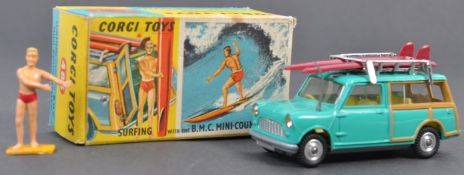 VINTAGE CORGI TOYS DIECAST MODEL SURFING BMC MINI