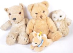 COLLECTION OF ASSORTED TEDDY BEARS - STEIFF, CHILTERN ETC