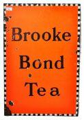 BROOKE BOND TEA ENAMELED ADVERTISING SHOP SIGN