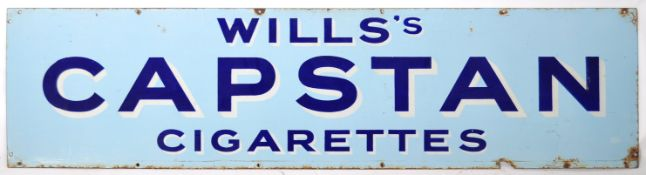 WILLS CAPSTAN ENAMEL ADVERTISING POINT OF SALE SIG