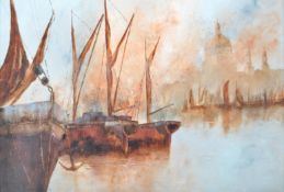 DAVID CHAMBERS - OIL ON BOARD PAINTING DEPICTING B