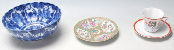 A group of Chinese ceramics to include an early 20