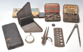 VINTAGE RETRO DRILL AND WOOD WORKING TOOLS