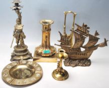 A LARGE COLLECTION OF VINTAGE BRASS WARE