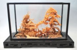 A mid 20th century antique style Chinese diorama d