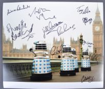 "DOCTOR WHO - LARGE MULTI-SIGNED 12X14"" COLOUR PHOTOGRAPH"