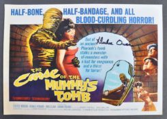 BRITISH HORROR - CURSE OF THE MUMMY'S TOMB SIGNED PHOTO