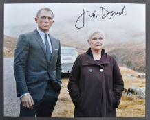DAME JUDI DENCH - JAMES BOND 007 - SIGNED PHOTOGRAPH