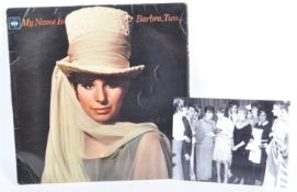FROM THE COLLECTION OF VALERIE LEON - BARBRA STREISAND SIGNED LP