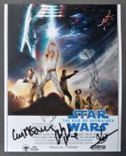 STAR WARS - THE RISE OF SKYWALKER - AUTOGRAPHED CA