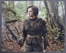 GAME OF THRONES - MAISIE WILLIAMS - SIGNED PHOTOGR