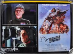 THE EMPIRE STRIKES BACK - JULIAN GLOVER AUTOGRAPHED PHOTO 16x12""